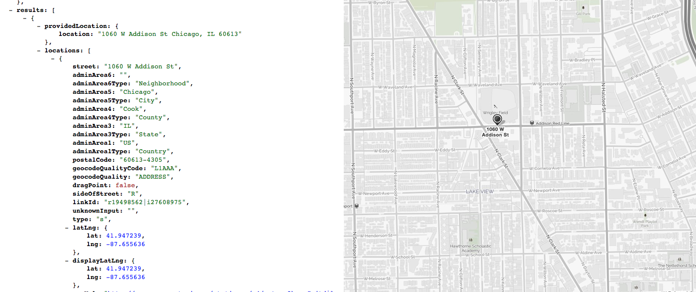 MapQuest Quality Codes