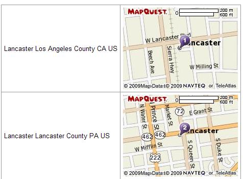 static map screenshot